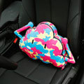 Camouflage Short Plush Auto Support Lumbar Pillow Car Interior Decoration 1pcs - Colorful