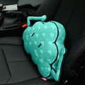 Cute Flaky Clouds Short Plush Auto Support Lumbar Pillow Car Interior Decoration 1pcs - Blue