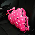 Cute Flaky Clouds Short Plush Auto Support Lumbar Pillow Car Interior Decoration 1pcs - Pink