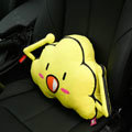 Cute Flaky Clouds Short Plush Auto Support Lumbar Pillow Car Interior Decoration 1pcs - Yellow