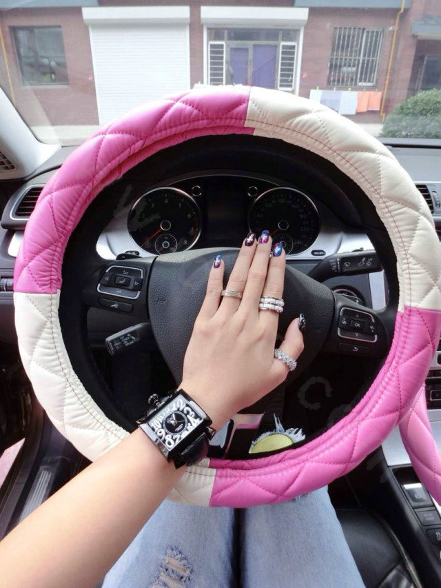 buy wholesale retail and wholesale sheepskin leather car steering wheel covers 15 inch 38cm. Black Bedroom Furniture Sets. Home Design Ideas