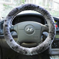 High Quality Snake Print Winter Plush Car Steering Wheel Covers 15 inch 38CM - Gray