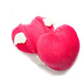 High Quality Women Heart Angel Plush Auto Neck Safety Pillow Car Accessories 2pcs - Rose