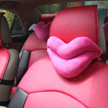 Hot sales Sexy Lips Women Plush Auto Neck Safety Pillow Car Interior Decoration 2pcs - Rose
