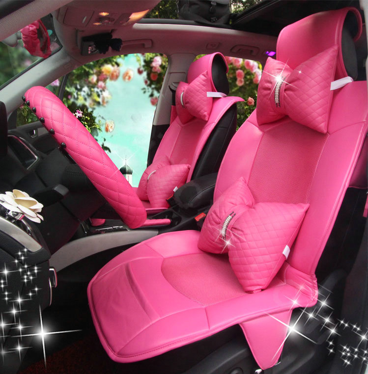 Buy Wholesale Luxury Cute PU Leather Universal Car Seat