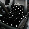 Luxury Genuine Wool Universal Car Seat Cushion Diamond Winter Auto Pad 1pcs - Black
