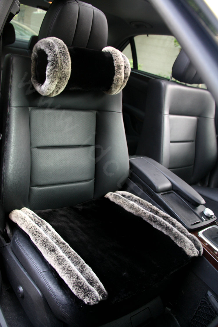 Buy Wholesale High Grade Full Rhinestone Genuine Wool Auto Neck Safety Pillow Car Accessories
