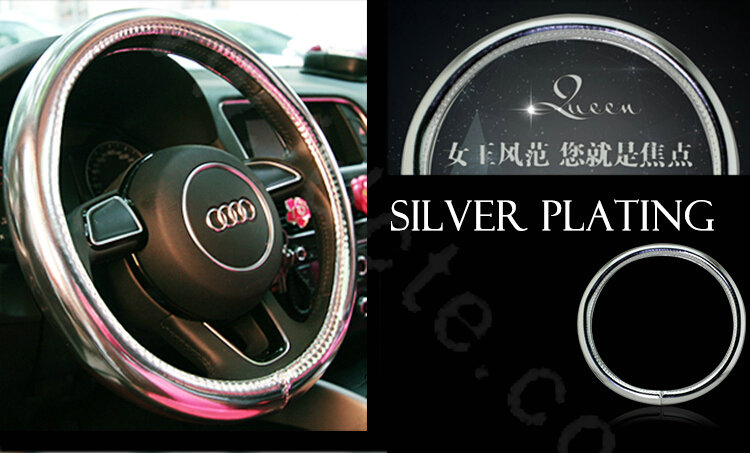 Buy Wholesale Personality Plating PU Leather Car Steering
