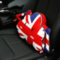 Popular Britain Flag Short Plush Auto Support Lumbar Pillow Car Interior Decorate 1pcs - Red