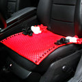 Sexy Crystal Beads Rose Universal Car Seat Cushion Women Genuine Sheepskin Pad 1pcs - Red