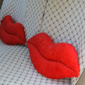 Sexy Lips Plush Auto Lumbar Pillow Back Support Cushion Car Interior Decoration 2pcs - Red