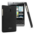 IMAK Cowboy Shell Hard Cases Housing for BlackBerry Passport Silver Edition - Black