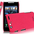 IMAK Cowboy Shell Hard Cases Housing for Motorola XT910 MAXX - Rose