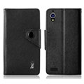 IMAK Cross Flip Leather Cases Book Holster Folder Covers for Gionee E5 - Black