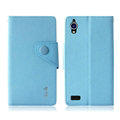 IMAK Cross Flip Leather Cases Book Holster Folder Covers for Gionee E5 - Blue