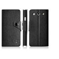 IMAK Cross Flip Leather Cases Book Holster Folder Covers for LG Optimus G Pro E988 - Black
