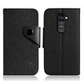 IMAK Cross Flip Leather Cases Book Holster Folder Covers for LG Optimus G2 D801 LS980 - Black