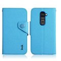 IMAK Cross Flip Leather Cases Book Holster Folder Covers for LG Optimus G2 D801 LS980 - Blue