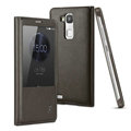 IMAK Earl Windows Leather Cases Holster Covers Skin for Huawei Ascend Mate 7 - Black
