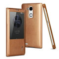 IMAK Earl Windows Leather Cases Holster Covers Skin for Huawei Ascend Mate 7 - Golden