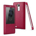 IMAK Earl Windows Leather Cases Holster Covers Skin for Huawei Ascend Mate 7 - Rose