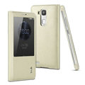 IMAK Earl Windows Leather Cases Holster Covers Skin for Huawei Ascend Mate 7 - White