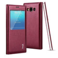 IMAK Earl Windows Leather Cases Holster Covers Skin for Samsung Galaxy A5 A5000 - Red