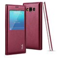 IMAK Earl Windows Leather Cases Holster Covers Skin for Samsung Galaxy A7 A7009 - Red