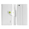 IMAK Eternal R64 Flip Leather Cases Support Holster Covers for Gionee E6 - White