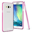 IMAK Metal Cases TPU Shell Bumper Frame Covers for Samsung Galaxy A3 A3000 A3009 - Rose