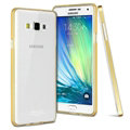 IMAK Metal Cases TPU Shell Bumper Frame Covers for Samsung Galaxy A5 A5000 - Golden