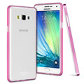 IMAK Metal Cases TPU Shell Bumper Frame Covers for Samsung Galaxy A5 A5000 - Rose