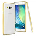 IMAK Metal Cases TPU Shell Bumper Frame Covers for Samsung Galaxy A7 A7000 A700YD - Golden