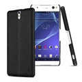 IMAK Ruiyi Leather Cases Holster Covers Housing for Sony Xperia C5 Ultra - Black