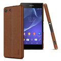 IMAK Ruiyi Leather Cases Holster Covers Housing for Sony Xperia M5 - Brown