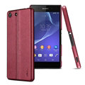 IMAK Ruiyi Leather Cases Holster Covers Housing for Sony Xperia M5 - Red