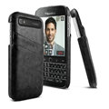IMAK Sagacity Leather Cases Holster Covers Shell for BlackBerry Classic Q20 - Black