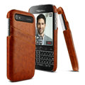 IMAK Sagacity Leather Cases Holster Covers Shell for BlackBerry Classic Q20 - Brown