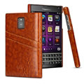 IMAK Sagacity Leather Cases Holster Covers Shell for BlackBerry Passport Windermere Q30 - Brown