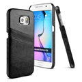 IMAK Sagacity Leather Cases Holster Covers Shell for Samsung Galaxy S6 G920F G9200 - Black
