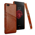 IMAK Sagacity Leather Cases Holster Covers Shell for ZTE Nubia Z9 NX508J - Brown