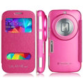 IMAK Shell Leather Cases Holster Covers Skin for Samsung S5 Zoom C1158 K Zoom C1116 - Rose