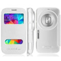 IMAK Shell Leather Cases Holster Covers Skin for Samsung S5 Zoom C1158 K Zoom C1116 - White