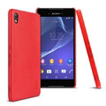 IMAK Slim Leather Back Cases Holster Covers Casing for Sony Xperia Z4 Z3+ - Red