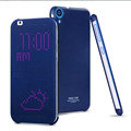 IMAK Smart Dot Matrix Flip Leather Cases for HTC Desire 820 D820u - Blue