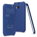 IMAK Smart Dot Matrix Flip Leather Cases for HTC One 2 M8 M8x One+ - Blue