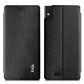 IMAK Squirrel Lines Leather Cases Support Holster Covers for Gionee 9000 ELIFE S5.5 - Black