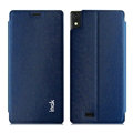IMAK Squirrel Lines Leather Cases Support Holster Covers for Gionee 9000 ELIFE S5.5 - Blue