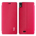 IMAK Squirrel Lines Leather Cases Support Holster Covers for Gionee 9000 ELIFE S5.5 - Rose