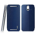 IMAK Squirrel Lines Leather Cases Support Holster Covers for HTC One E8 M8sw M8st - Blue
